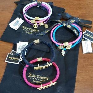 6 embellished hair ties & 2 JUICY bracelets